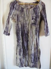 "Jigsaw crinkle ""tie dye look"" cotton and silk dress, size 12, VGC"