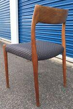 1 VINTAGE Neils MOLLER teak 75 Dining Chair DANISH Mod MCM Juhl Hvidt Wegner Era