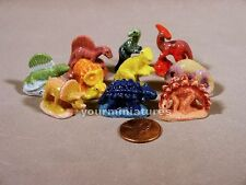 Porcelain Miniatures French Feves Dinosaurs  Set 2