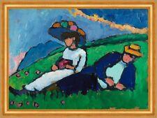 Jawlensky and Werefkin Marianne Werefkin di artisti Prato tempo libero B a3 02854