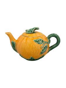 Bordallo Pinheiro Orange Teapot