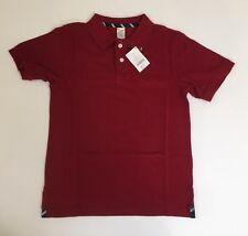 NWT Gymboree Boys Classic Red Size 10 Pique Short Sleeve Uniform Polo Shirt