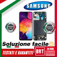 DISPLAY LCD+TOUCH SCREEN+FRAME PER SAMSUNG GALAXY A50 SM-A505F A505FN SCHERMO!!