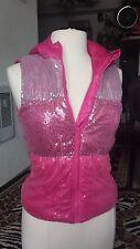 Girl's Sparkle Hoodie Sleeveless Vest Size L