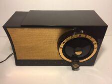 RARE. Admiral 5T32 Am Tube radio mid century Atomic  Dark chocolate Bakelite