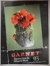 Original 1993 Tucson Gem & Mineral Show Poster Garnet on Idocrase