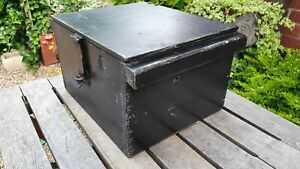 Nice Old Wooden Toolbox Box with side carry handles