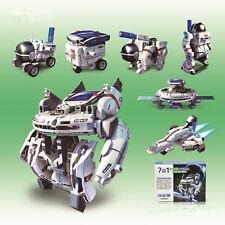 7en1 Robot Solaire Energie Construction Rechargeable Jouet Voiture Enfant Cadeau