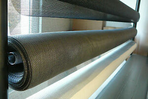 Flyscreen Material 30 metre rolls in White/Charcoal or Grey 120cm Wide