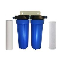 Twin Caravan Water Filter System Boat Van Snap On