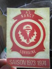 FOOTBALL MEMORABILIA vintage : ASNL AS NANCY LORRAINE Sticker SAISON 1973/1974
