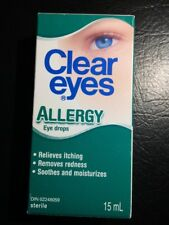 Clear Eyes Allergy Eye Drops 15mL Relieves itching Removes redness