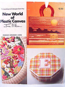 New World of Plastic Canvas Book by Erica Wilson 16 Needlepoint Designs Patterns
