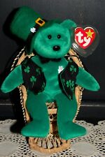 TY Beanie Baby Erin with Handmade Accessories 1997 Retired Hat Vest Tie Green