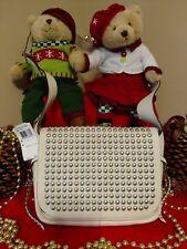 ~NWT Coach Rivets Flap Dakotah Crossbody Handbag 35764 in Cream Pebbled Leather