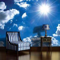 Vlies Fototapete XXL Himmel Sonne Wolken Wohnzimmer Tapete Wandtapete 65