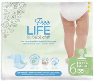 Babywindeln Ontex BébéCash-Freelife - XL 6 (18+kg) 4x35 (140 Stück) // 2. Wahl