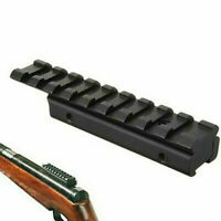Dovetail Extend Weaver Picatinny Rail Adapter 11mm to 20mm For Rifle Base Mount