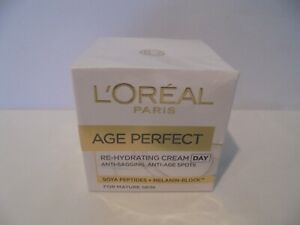 L'OREAL PARIS - AGE PERFECT RE-HYDRATING DAY CREAM FOR MATURE SKIN 50 ml - NEW