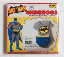 Batman Underoos FRIDGE MAGNET (2 x 2 inches) robin tv show super friends