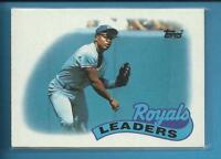 Bo Jackson 1989 Topps Team Leaders Card # 789 Kansas City Royals Baseball MLB