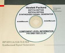 HP 83711A 83712A 83731A 83732A Signal Generator Schematics/ CLIP Manual