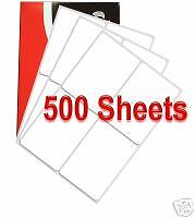 4 per A4 SHEET x 500 Quality ADDRESS LABELS FREE P & P