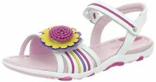 NIB STRIDE RITE Sandals Brewster White Multi Color Flower 8.5 W