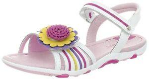 NIB STRIDE RITE Sandals Brewster White Multi Color Flower 8.5 W