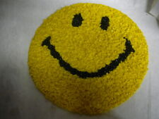 """Vintage Melted Plastic Popcorn Happy Smiley Face Retro Wall Decoration 13 3/4"""""""