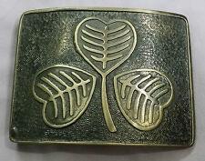 Mens Kilt Belt Buckle Irish Shamrock Emblem/Irish Shamrock Buckle Antique Finish