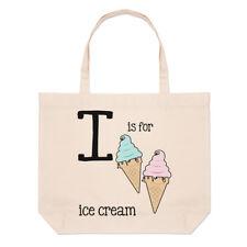 LETTERA I è per gelato grande borsa con manico da Spiaggia - alfabeto divertente
