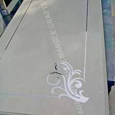 4'x2' White Marble Top Dining Table Design Inlay Handmade Furniture Decor E951