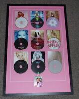 Britney Spears Signed Framed 22x33 Career CD Display JSA
