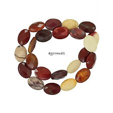 "15"" Mookaite Flat Oval Beads 13x18mm #85495"