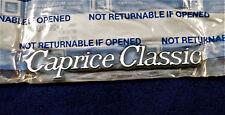 1977-85 CHEVY CAPRICE CLASSIC FENDER EMBLEM OEM NOS #20079927