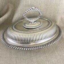Antique Entree Dish Serving Bowl Tureen Dish Silver Plate by Mappin & Webb