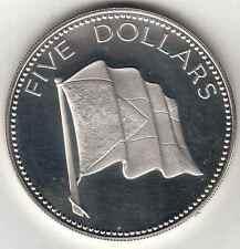 BAHAMAS 1976 5 DOLLARI ARGENTO PROOF SILVER COIN KM# 67
