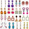 Fashion Women Boho Crystal Tassel Earrings Geometric Ear Stud Dangle Statement