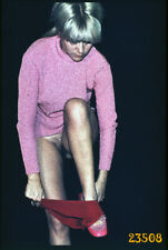 semi nude girl undressing, vintage  fine art slide!  1970'