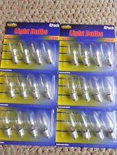 7W  Night Light Bulbs [CLEAR] // 24 Bulbs in 6 Separate Packs [4 Bulbs in each]
