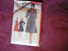 Vintage Simplicity Pattern 5242 Miss Dress 1981 Sz 14 Bust 36 Button Front Yoke