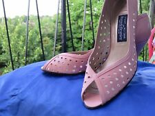 Stuart Weitzman For Russel &Bromley Pink Peep Toe Shoes Size 7