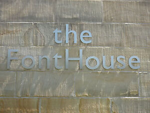 Gill Sans Brushed Stainless Steel 15cm series Lettering - ANY COMBINATION