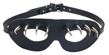 Leather Super Hero Spike Sexy Goth Eye Mask Masquerade Costume Halloween Buckle