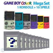 GameBoy Color MegaSet - Konsole (Farbe nach Wahl) + 10 Spiele
