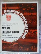 1968-69 Arsenal v Tottenham Hotspur, 24th March