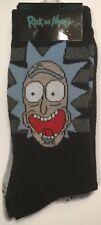 Rick & Morty  Nickelodeon Crew Socks 2  Pair Shoe Size 6-12 ADULT SWIM