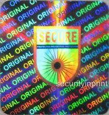 49X Secure protetti Ologramma OLOGRAFICA Adesivi Sigilli Etichette 20x20mm s20-4s