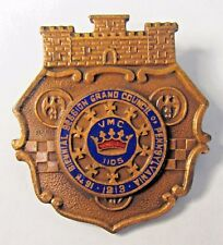 1913 ROYAL ARCANUM VMC 1105 insurance fraternal Enamel badge medal pinback +